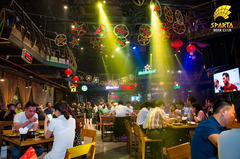 Địa điểm đẹp ở Hà Nội Sparta Beer Club