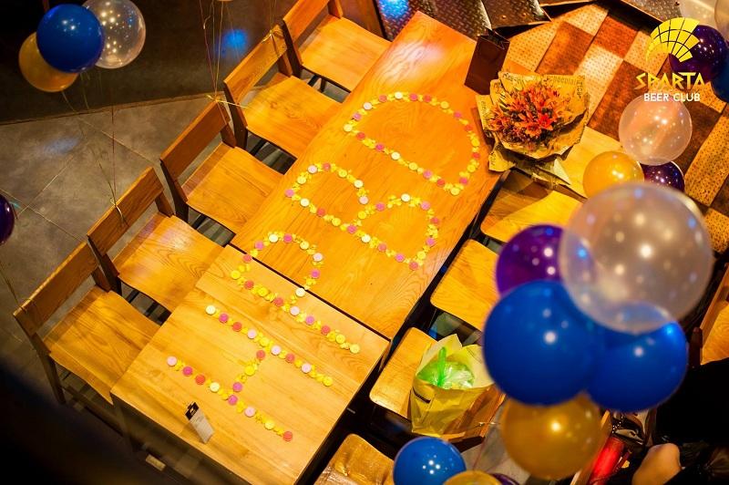 Địa điểm tổ chức sinh nhật tại Hà Nội Sparta Beer Club 10