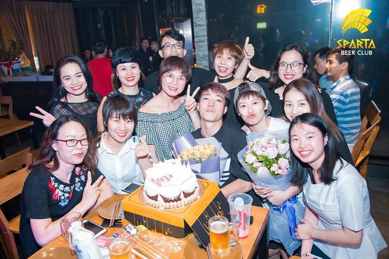 Địa điểm tổ chức sinh nhật tại Hà Nội Sparta Beer Club 3