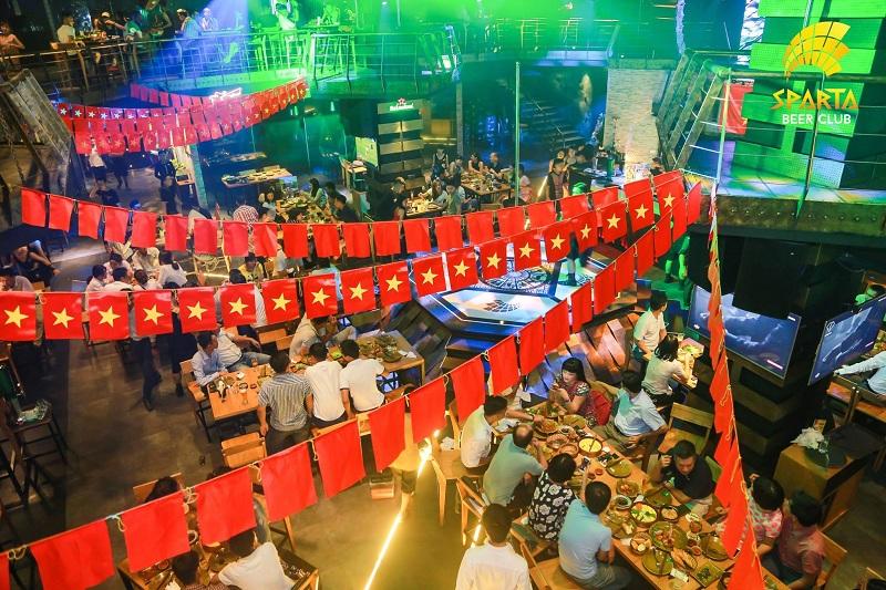 Quán bia xem bóng đá Hà Nội Sparta Beer Club 2